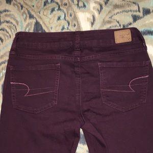 🇺🇸🦅Burgundy American Eagle Jeans